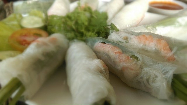 Cold Vietnamese Spring Rolls a la Ahern