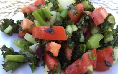 Chopped Cucumber Kale Salad