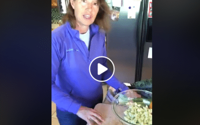 Chopped Cucumber Kale Salad LIVE