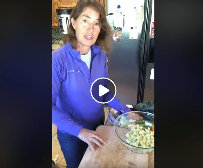 Chopped Cucumber Kale Salad LIVE